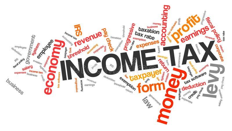Inkomstenbelasting stock illustratie