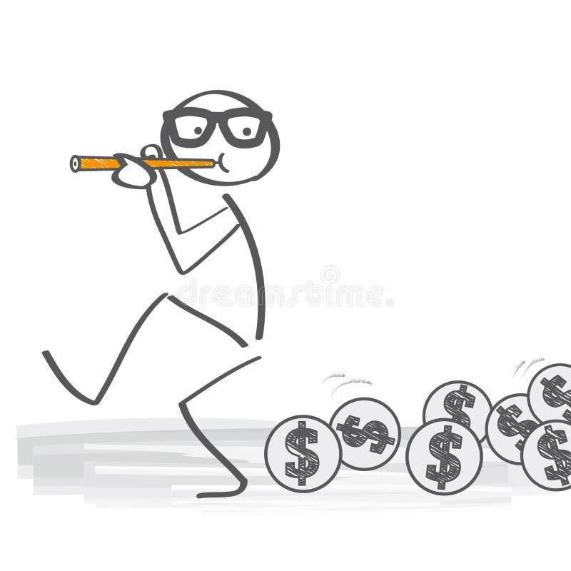 Inkomstretur royaltyfri illustrationer