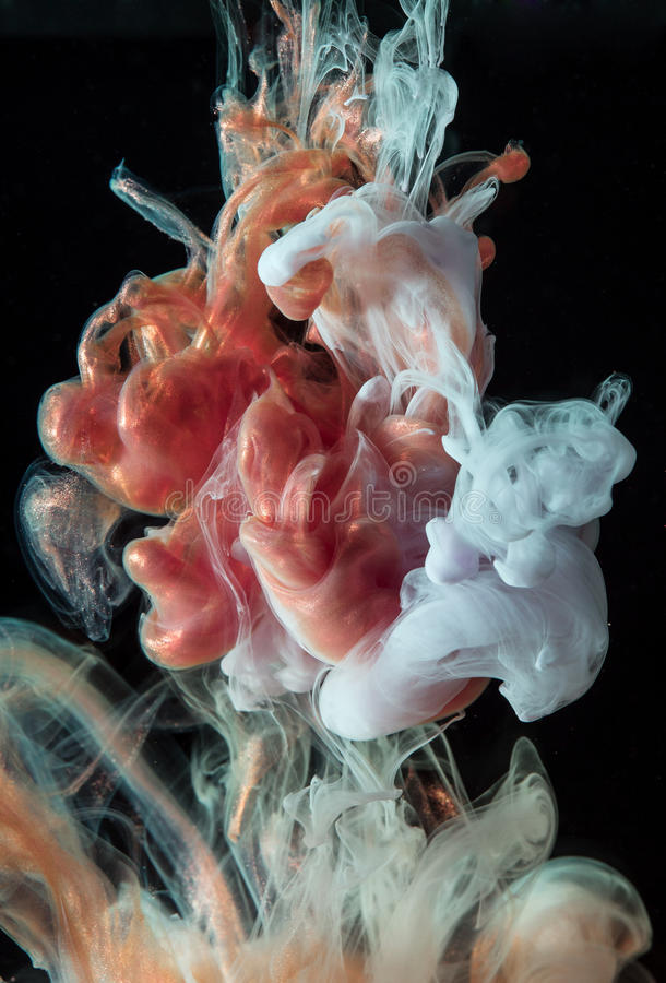 Inks in water stock photography