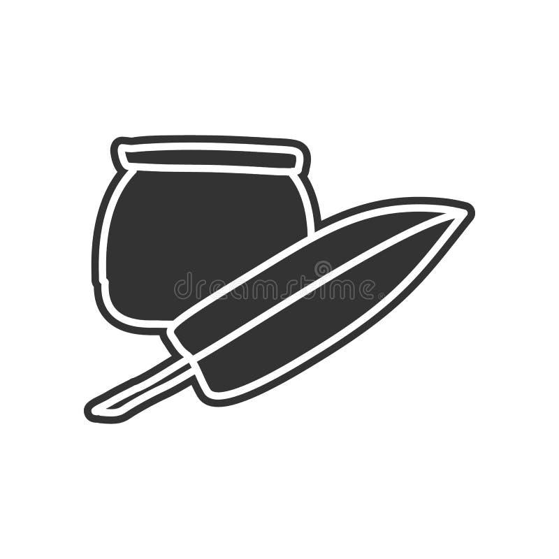 inkt en penschetspictogram Element van onderwijs voor mobiel concept en Web apps pictogram Glyph, vlak pictogram voor websiteontw royalty-vrije illustratie