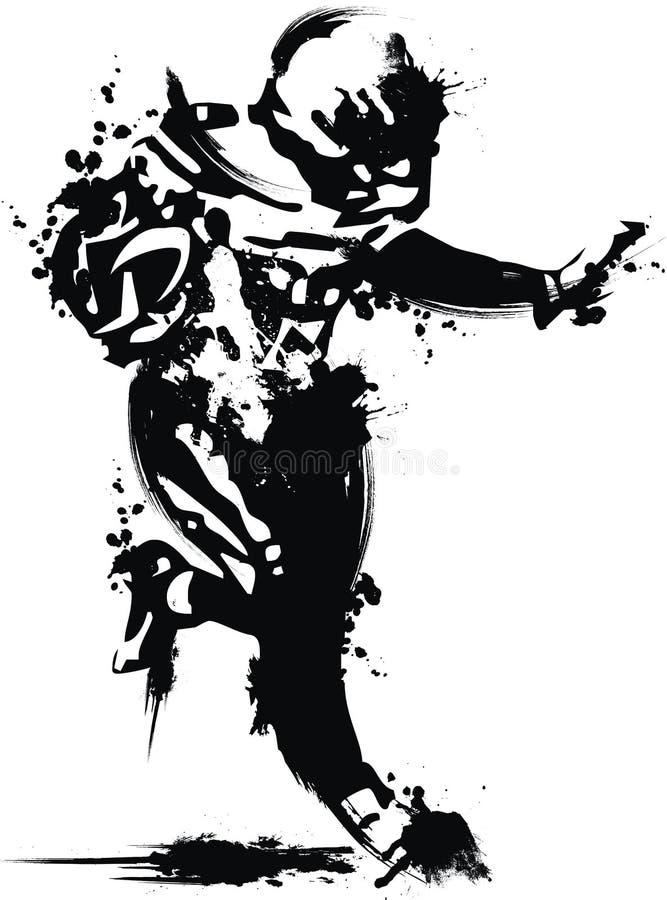 Inkt futball royalty-vrije stock fotografie