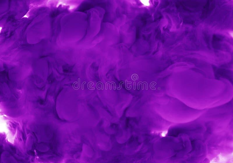 Inkt op acryl de kunst abstracte achtergrond van de water roze, mauve rook royalty-vrije stock afbeeldingen