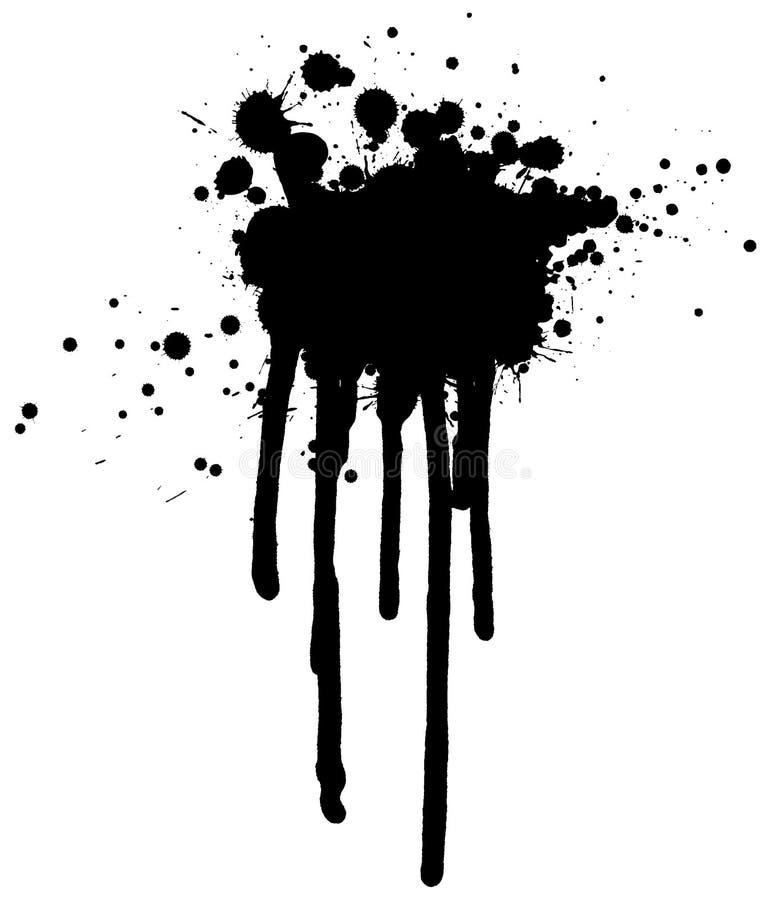 Inkt Splat vector illustratie