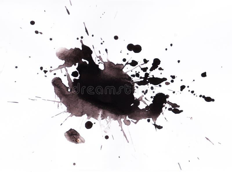 Inkt splat royalty-vrije illustratie