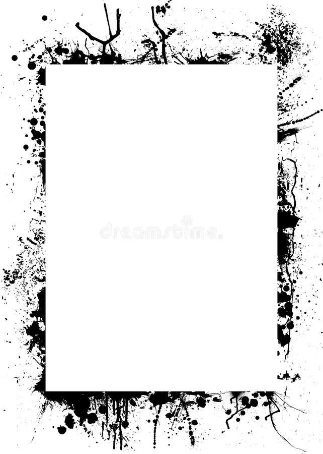 Inkt splat birder vector illustratie