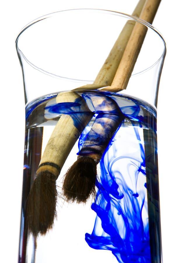 Inkt in water royalty-vrije stock afbeeldingen