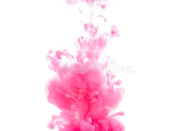 Inkt in water abstracte achtergrond stock foto