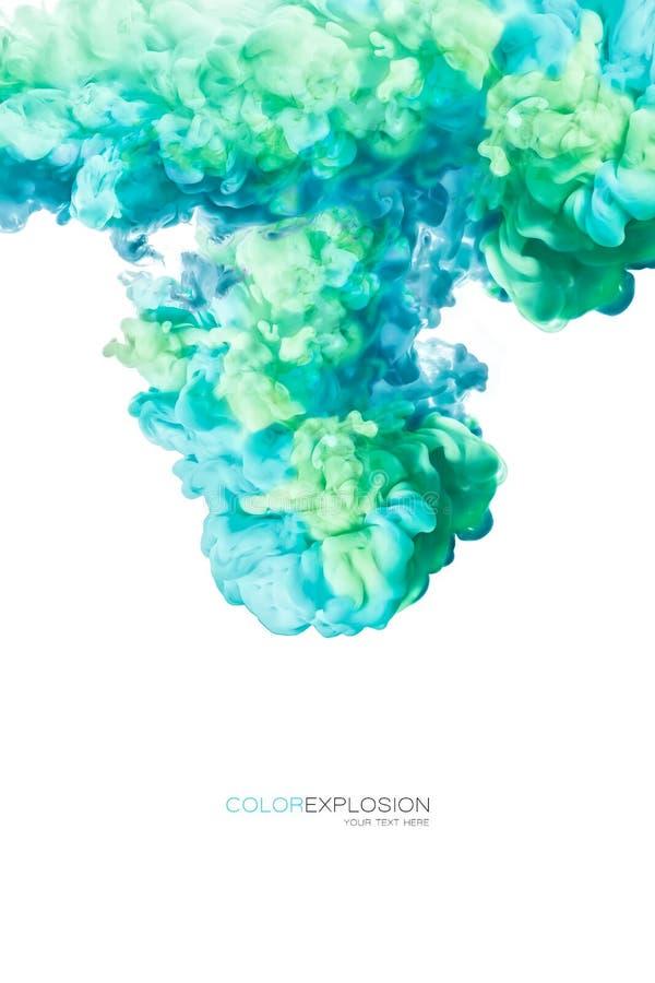Inkt in water De textuur van de verf De explosie van de kleur royalty-vrije stock foto