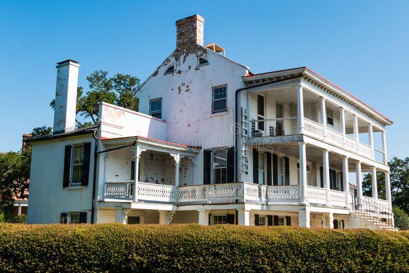 Inkvarterar inget 1 på Fort Monroe i Hampton, Virginia arkivfoto