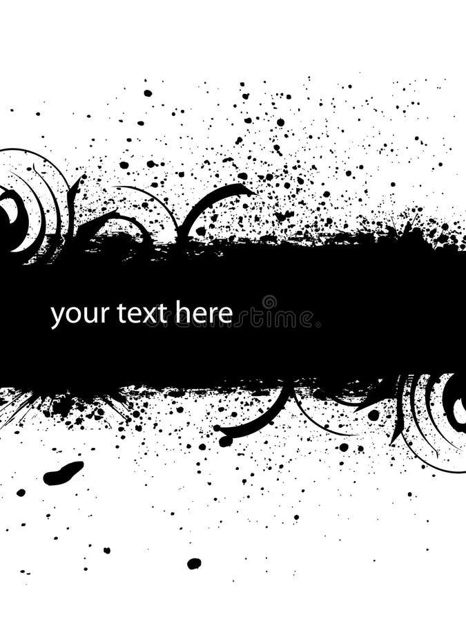 Download Inky dribble strip stock illustration. Image of black - 12056102