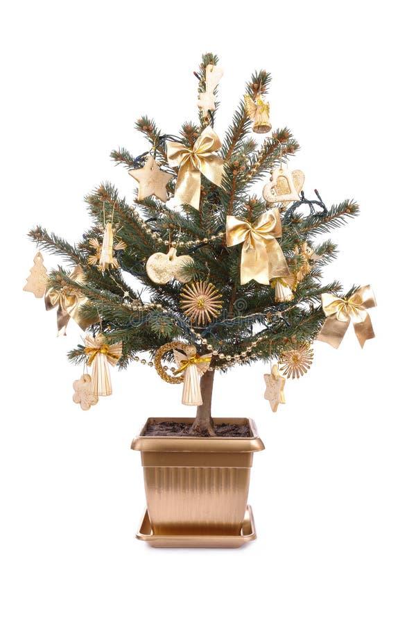 inlagd tree för jul arkivfoto