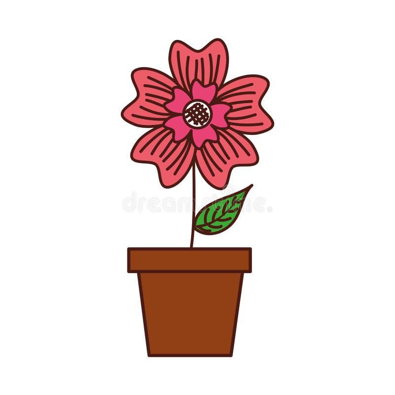 Inlagd växt för natur för vintergrönablommaprydnad royaltyfri illustrationer