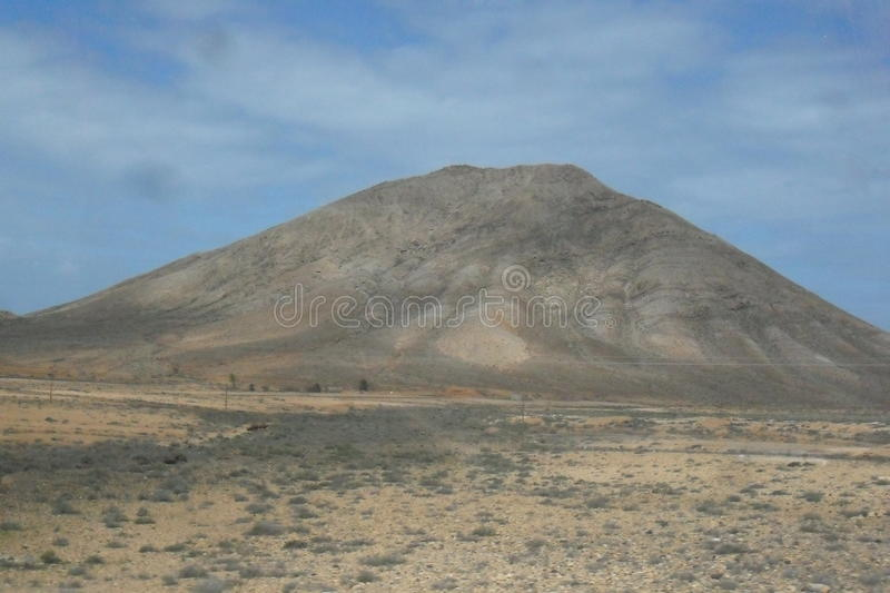 Inland Landscapes of Fuerteventura island in the Canary islands royalty free stock photos