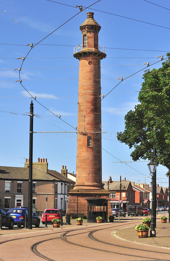 Download Inland Lighthouse, (Pharos) Fleetwood Lancashire Stock Image - Image of tall, street: 25993627