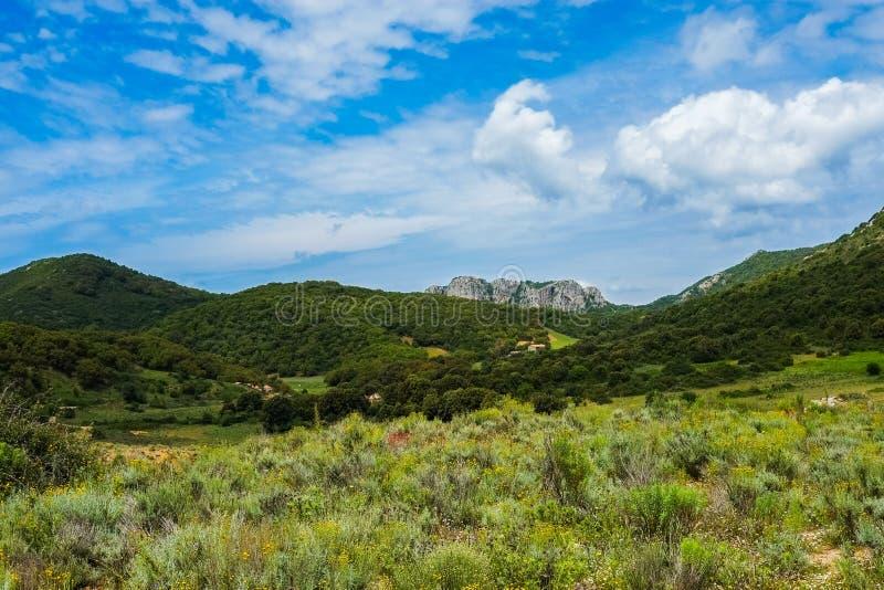 Inland Sardinia. Mountain landscape around Iglesias in Sardinia, Italy stock photography