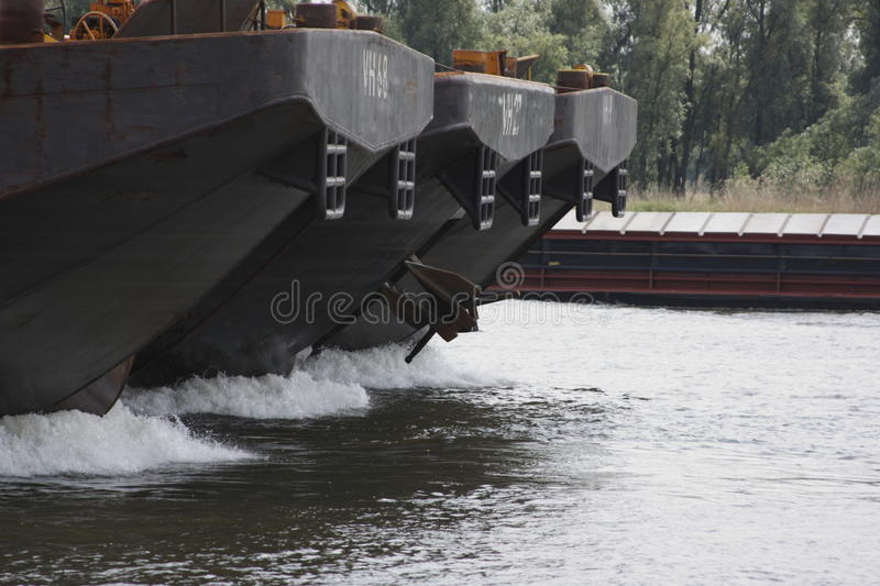 Inland shipping. Inlandshipping on river Merwede, the Netherlands stock photography