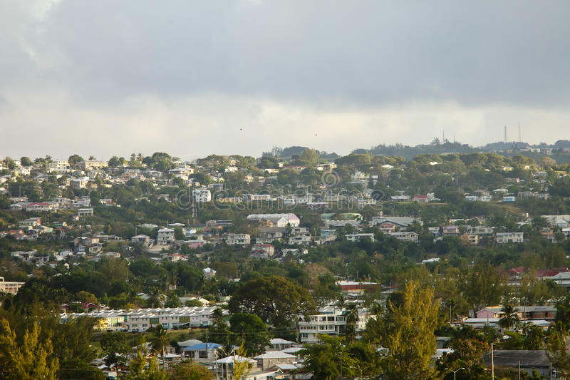 Inland View Of Bridgetown Barbados Royalty Free Stock Photo