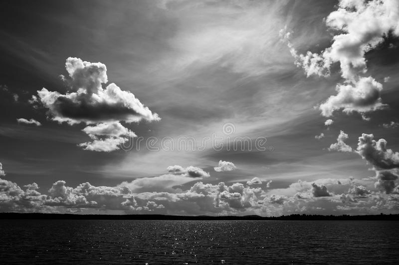 Inland water, beautiful sky royalty free stock photography