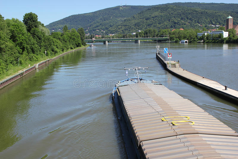 Inland water transportation royalty free stock photography