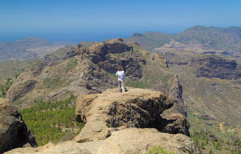 Inlands- Gran Canaria royaltyfri bild