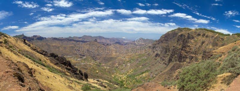Inlands- Gran Canaria, Caldera de Tejeda arkivbilder