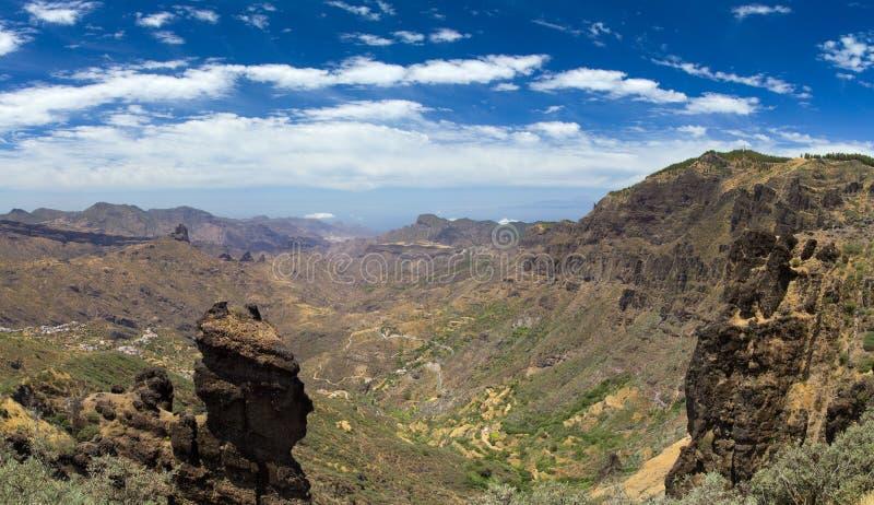 Inlands- Gran Canaria, Caldera de Tejeda fotografering för bildbyråer