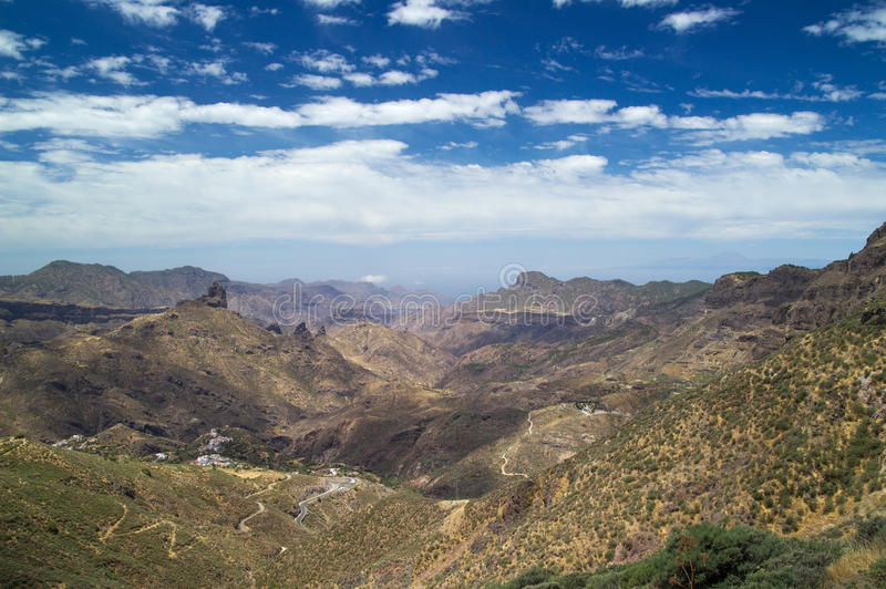 Inlands- Gran Canaria, Caldera de Tejeda royaltyfria bilder