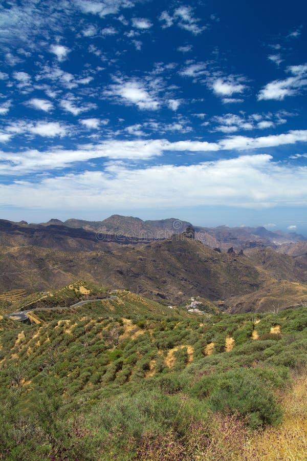 Inlands- Gran Canaria, Caldera de Tejeda royaltyfri fotografi