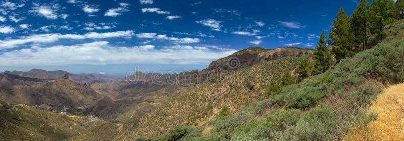 Inlands- Gran Canaria, Caldera de Tejeda royaltyfria foton