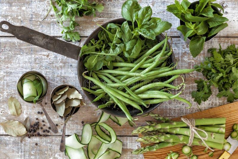 Inlandse groenten en kruiden royalty-vrije stock afbeelding