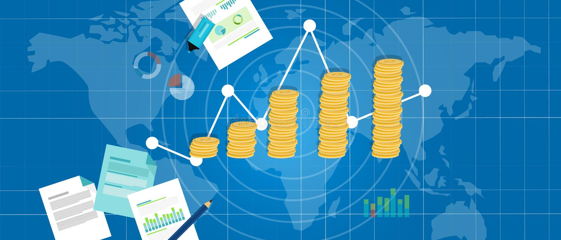 Inlandsprodukt Wirtschaftsbip-Wachstums lizenzfreie abbildung