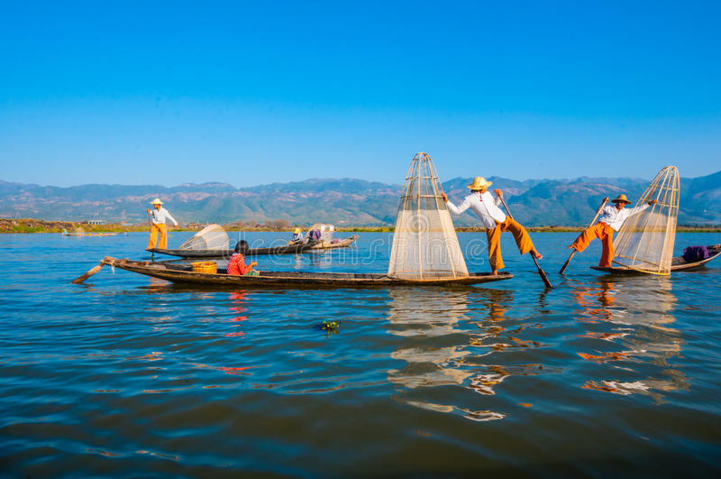 Download Inle jezioro obraz editorial. Obraz złożonej z 1, asia - 57655735