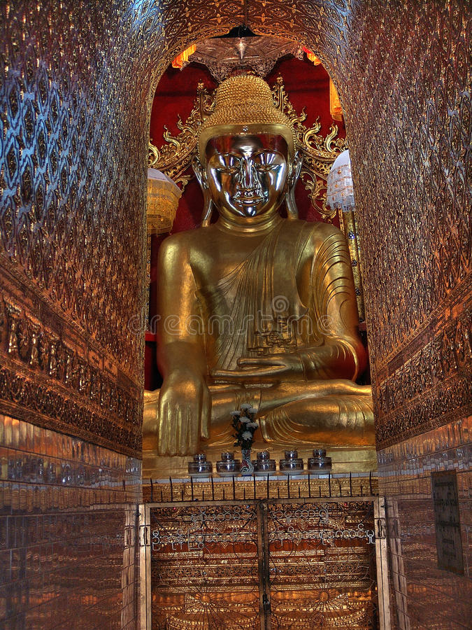 Inle Lake - Main Paya Buddha with coridor of enlightment. Inle Lake - Main Paya Buddha stock photo