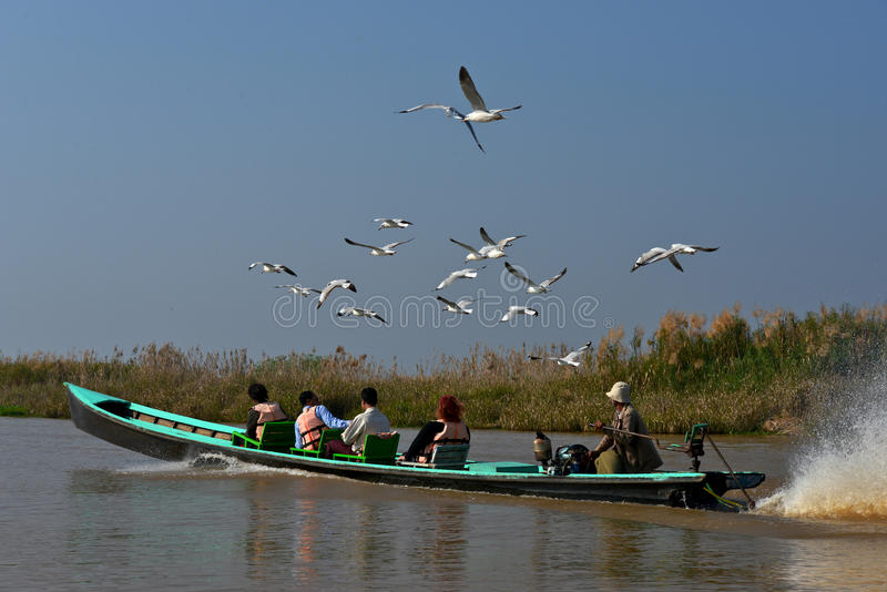 Inle lake, Shan state, Myanmar royalty free stock photo