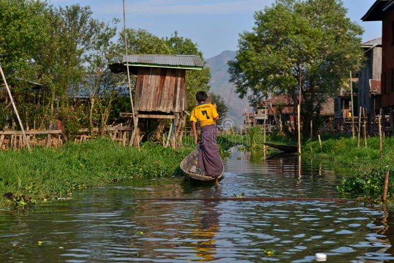 Inle lake, Shan state, Myanmar royalty free stock image