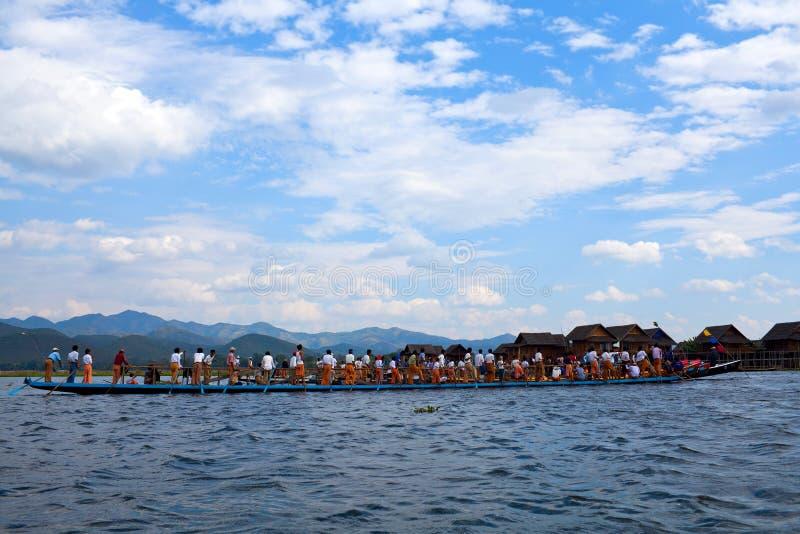 Inle Lake in Shan State, Myanmar royalty free stock photo