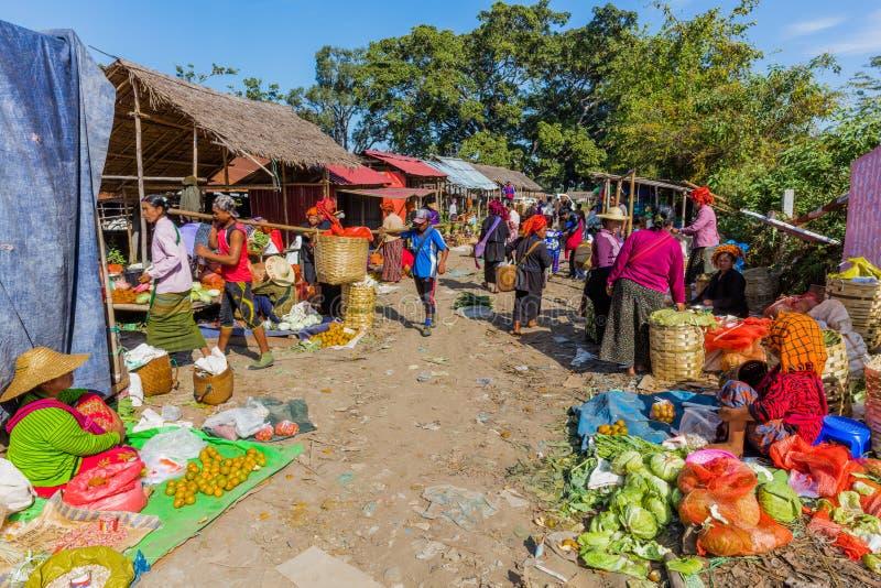 Inle shanu jeziorny stan Myanmar zdjęcia royalty free