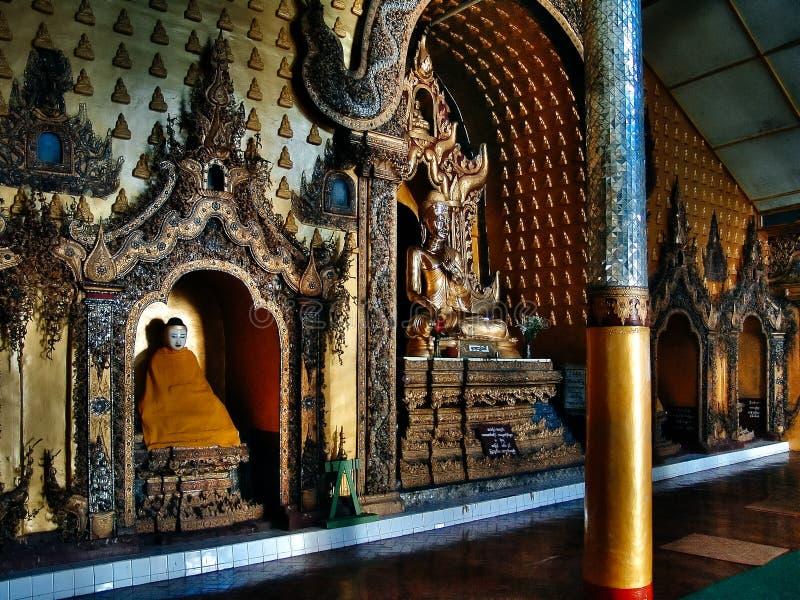 Inle sjö - huvudsaklig Paya tempel, Burma Malaysia arkivfoto