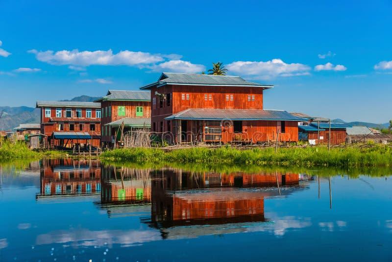 Inle sjö, Myanmar. arkivbilder