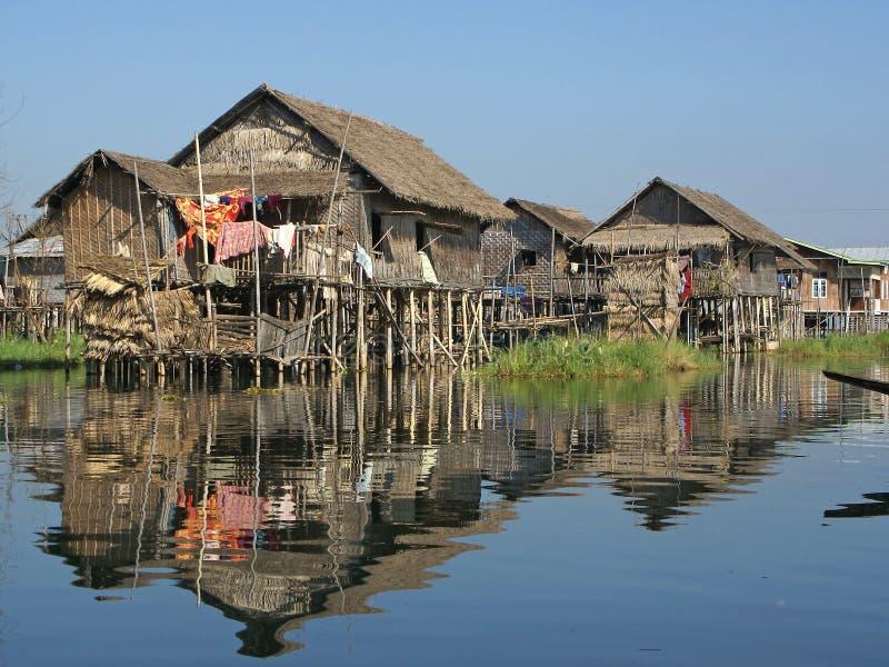 Inlemeer, Myanmar, Azië royalty-vrije stock foto's
