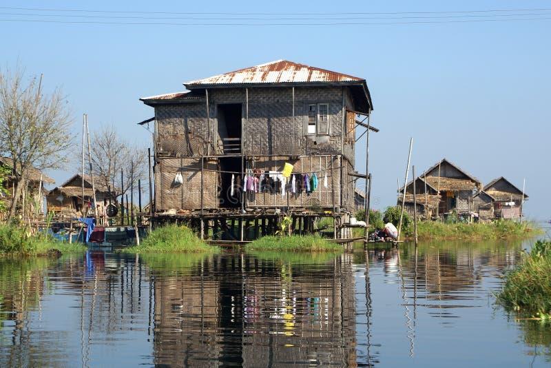 Inlemeer, Myanmar, Azië stock afbeeldingen