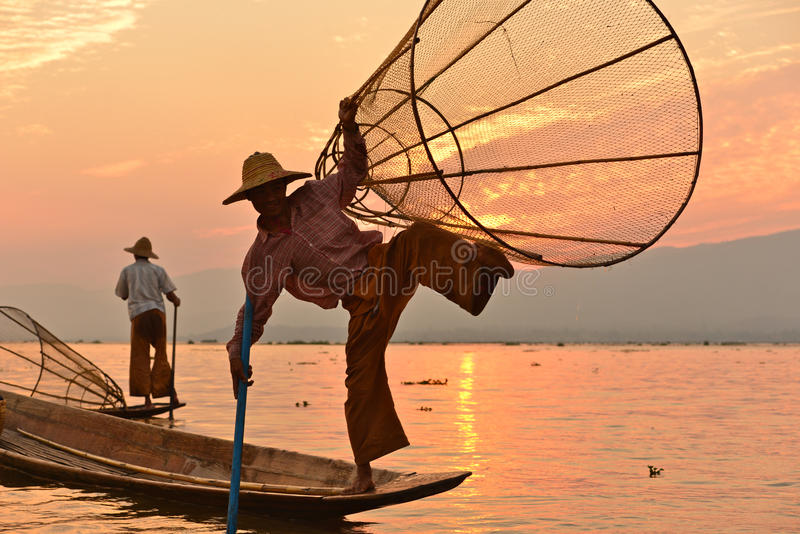 Inlemeer, Shan State, Myanmar royalty-vrije stock fotografie