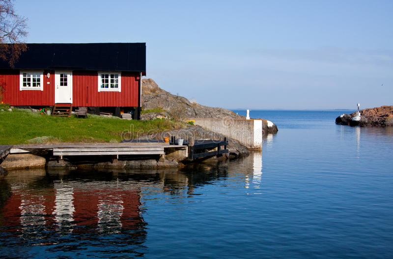 Download Inlet stock photo. Image of rocks, water, cottage, port - 14554916