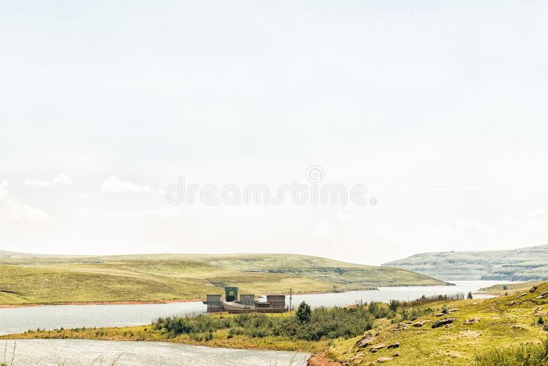 Inlet of the Vaal - Tugela water scheme the Driekloof dam. Inlet of the Vaal - Tugela water scheme in the Driekloof dam in the Free State Province of South royalty free stock photography