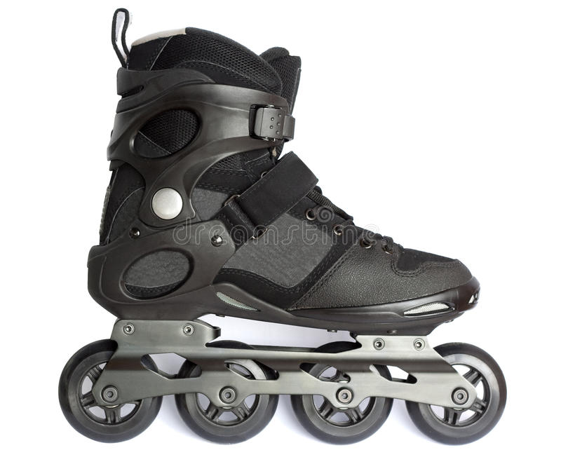 Inline skate. Isolated on white stock photo