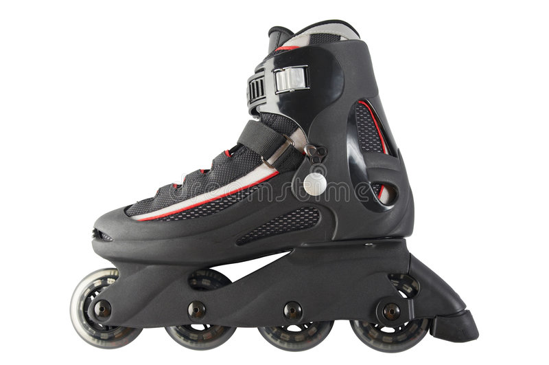 Inline skate. Single inline skate on white background with clipping path stock photos