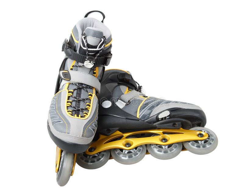 Inline skate. S on a white background. Close up royalty free stock photos