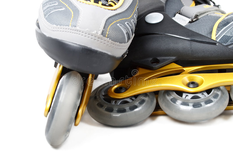Inline skate. S on a white background. Close up royalty free stock photography