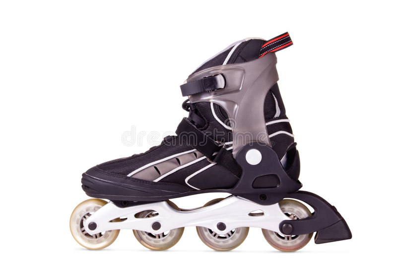 Inline Skate Boot. Boot for inline skating. Isolated on white background stock images