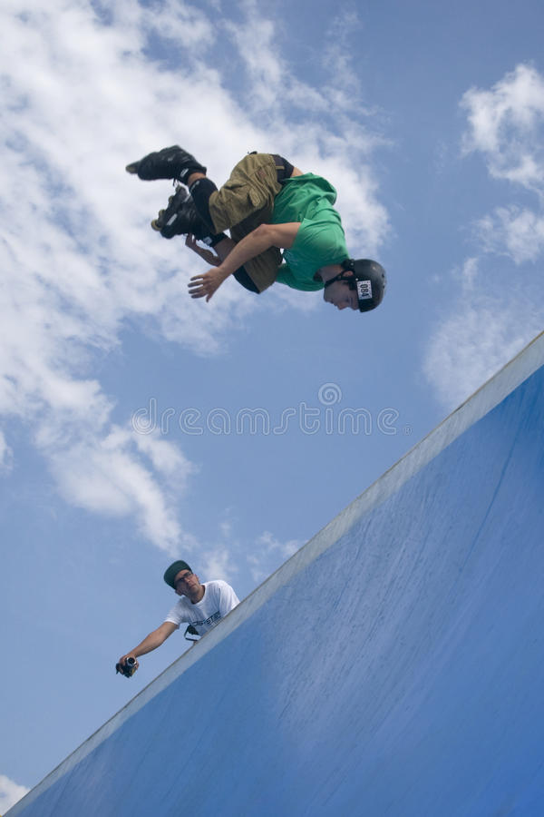 Download Inline Skater Jumping From Half-pipe. Editorial Photography - Image: 10830217